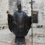 Carthagène, statue de Jean Paul II